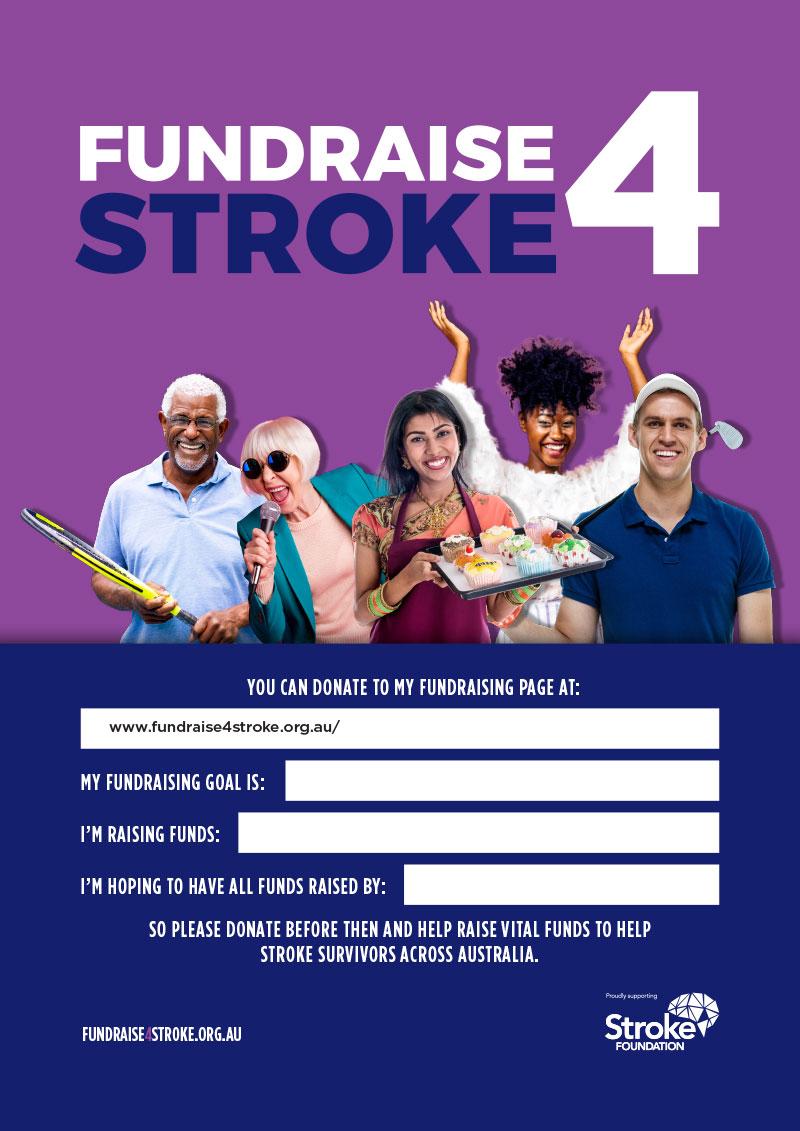 Fundraise 4 Stroke Poster - Purple