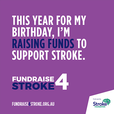 Fundraise 4 Stroke IG Purple