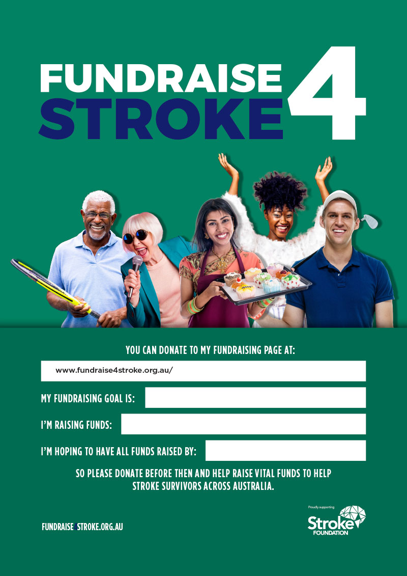 Fundraise 4 Stroke Poster - Green